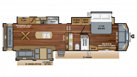 2019 Pinnacle 36SSWS Floor Plan