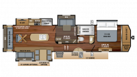 2019 Pinnacle 37MDQS Floor Plan