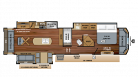 2019 Pinnacle 37RLWS Floor Plan