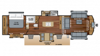 2019 Pinnacle 38FLWS Floor Plan