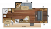 2019 White Hawk 23MRB Floor Plan