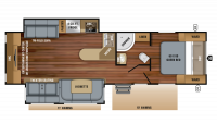 2019 White Hawk 29RE Floor Plan