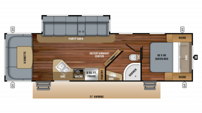 2019 White Hawk 30RD Floor Plan Img