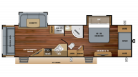 2019 White Hawk 30RLS Floor Plan