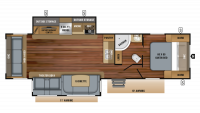 2019 White Hawk 31RL Floor Plan