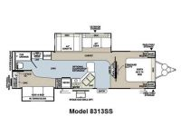 2013 Rockwood Signature Ultra Lite 8313SS Floor Plan