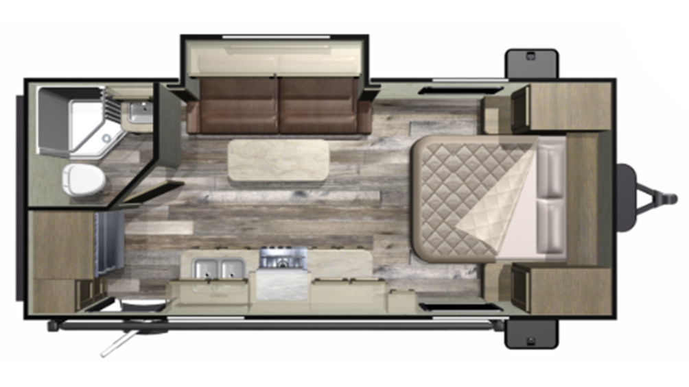 Mossy Oak 20FBS Floor Plan - 2020