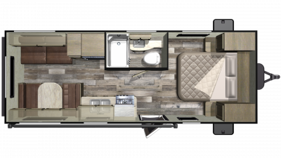 Mossy Oak 21FB Floor Plan - 2020