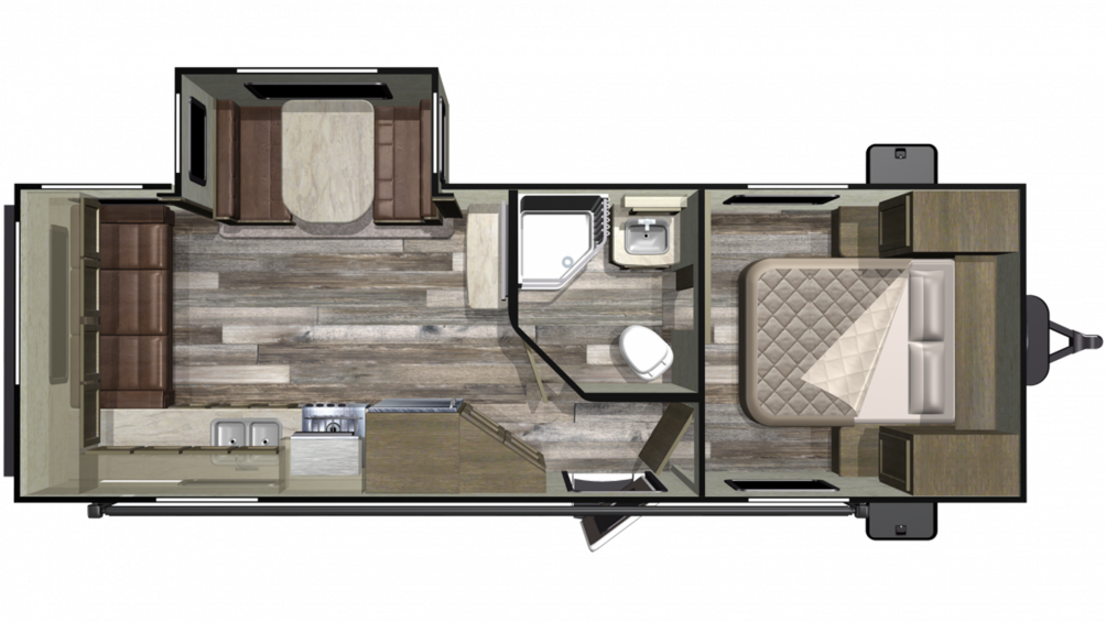 Mossy Oak 23RLS Floor Plan - 2020
