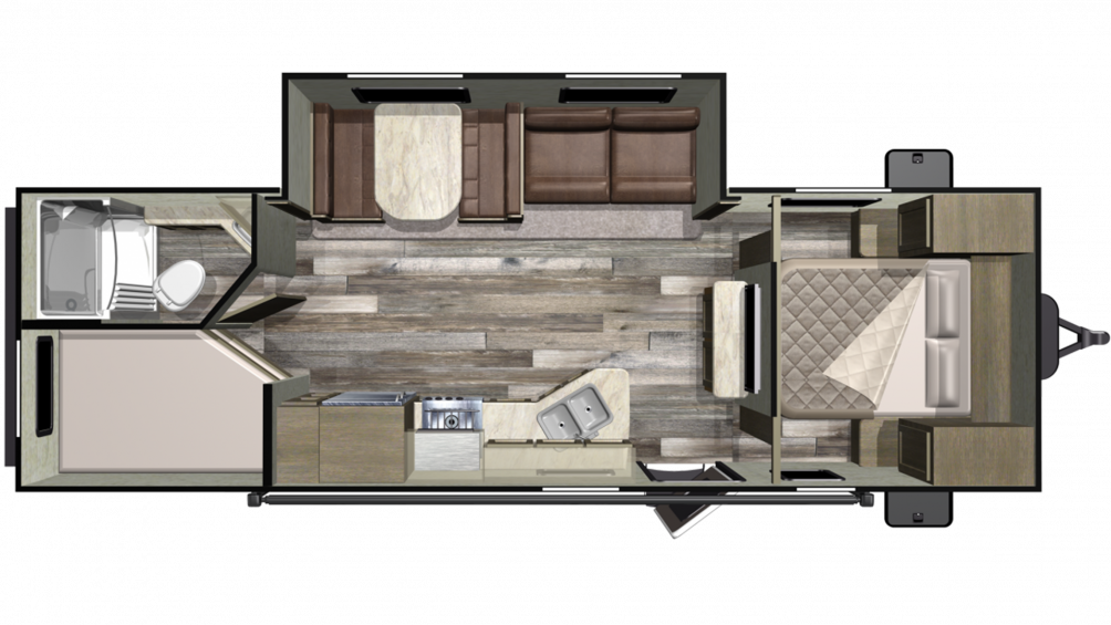Mossy Oak 26BHS Floor Plan - 2020