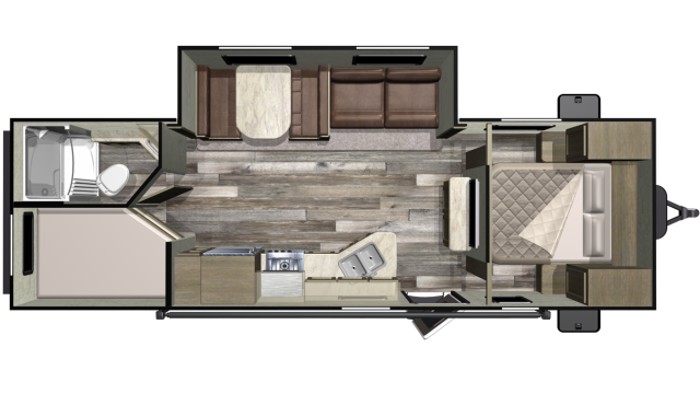 2020 Mossy Oak 26BHS Floor Plan