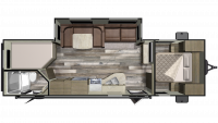 2020 Mossy Oak 27BHS Floor Plan