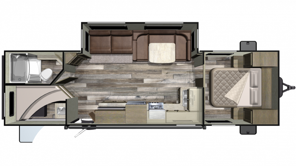 Mossy Oak 282BH Floor Plan - 2020