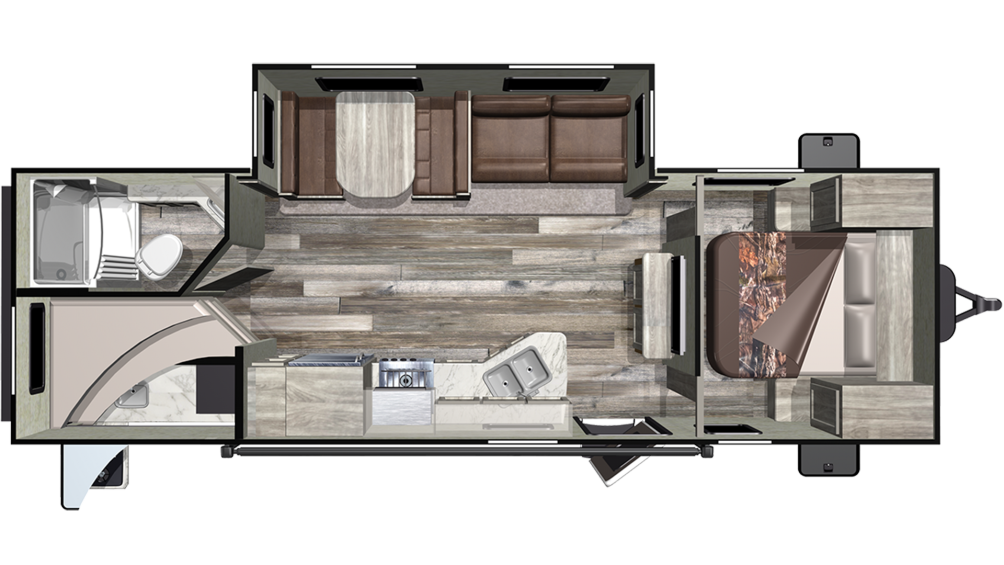 Mossy Oak Ultra Lite 261BH Floor Plan - 2020