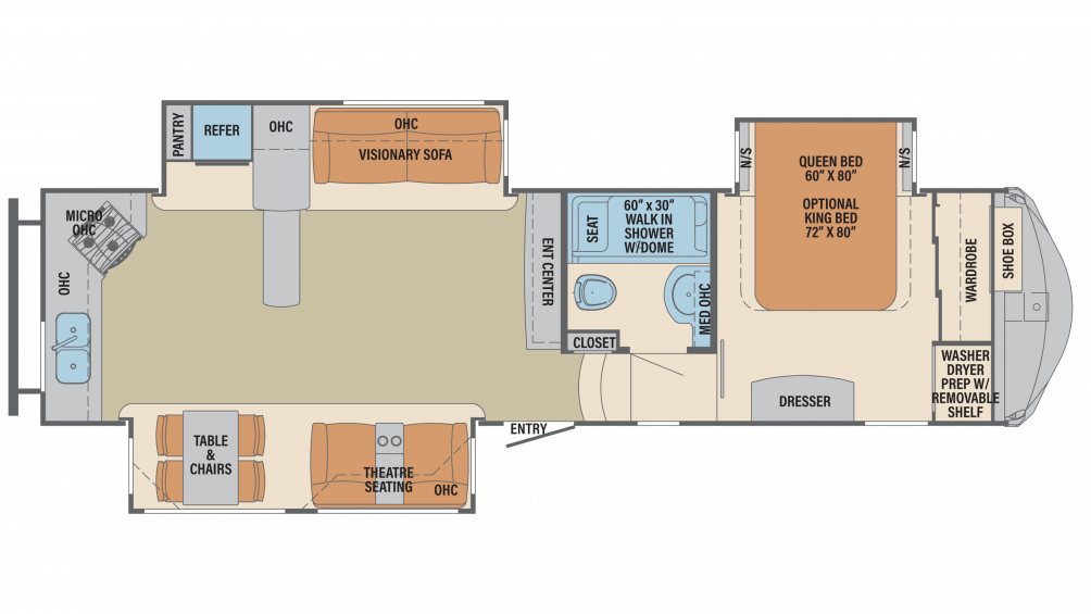 2019 Columbus 340RK Floor Plan Img