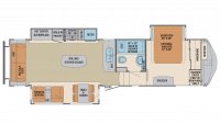 2019 Columbus Compass Series 320RSC Floor Plan