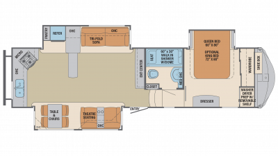 2019 Columbus Compass Series 340RKC Floor Plan Img
