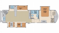 2019 Columbus Compass Series 340RKC Floor Plan