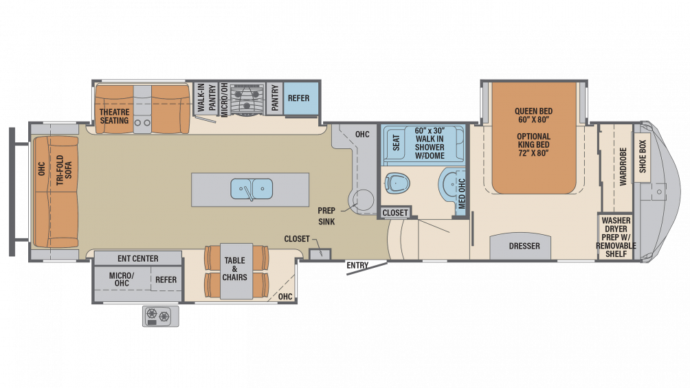 2019 Columbus Compass Series 366RLC Floor Plan Img