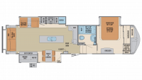 2019 Columbus Compass Series 366RLC Floor Plan