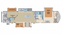 2018 Columbus Compass Series 374BHC Floor Plan