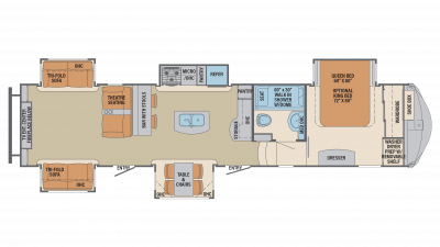 2019 Columbus Compass Series 384RDC Floor Plan Img
