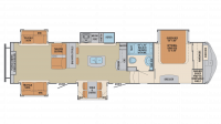2019 Columbus Compass Series 384RDC Floor Plan