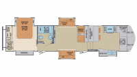 2019 Columbus Compass Series 386FKC Floor Plan