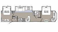 2019 Puma 38DBS Floor Plan