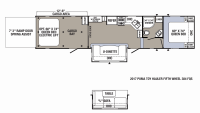 2019 Puma Unleashed 384FQS Floor Plan