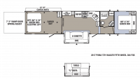 2018 Puma Unleashed 384FQS Floor Plan