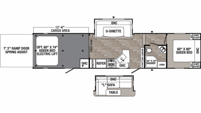 2019 Puma Unleashed 373QSI Floor Plan Img