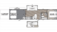 2019 Puma Unleashed 373QSI Floor Plan