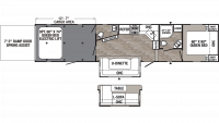 2019 Puma Unleashed 381FTB Floor Plan