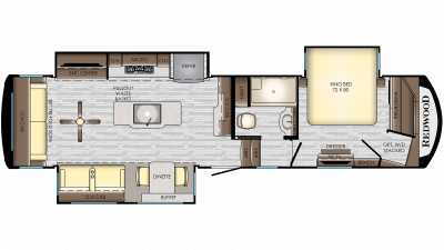 2019 Redwood 340RL Floor Plan Img