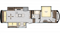 2019 Redwood 340RL Floor Plan