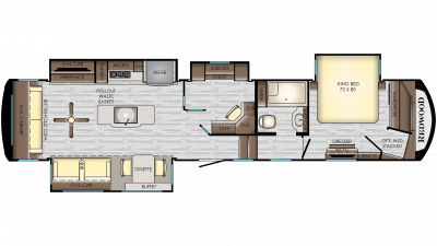 2019 Redwood 388ES Floor Plan Img