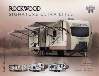 2017 Forest River Rockwood Signature Ultra Lite RV Brand Brochure Cover