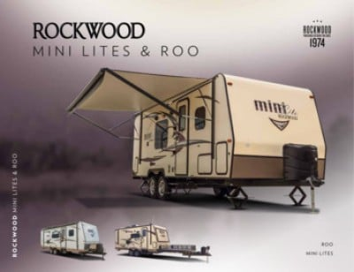 2017 Forest River Rockwood Mini Lite RV Brand Brochure Cover