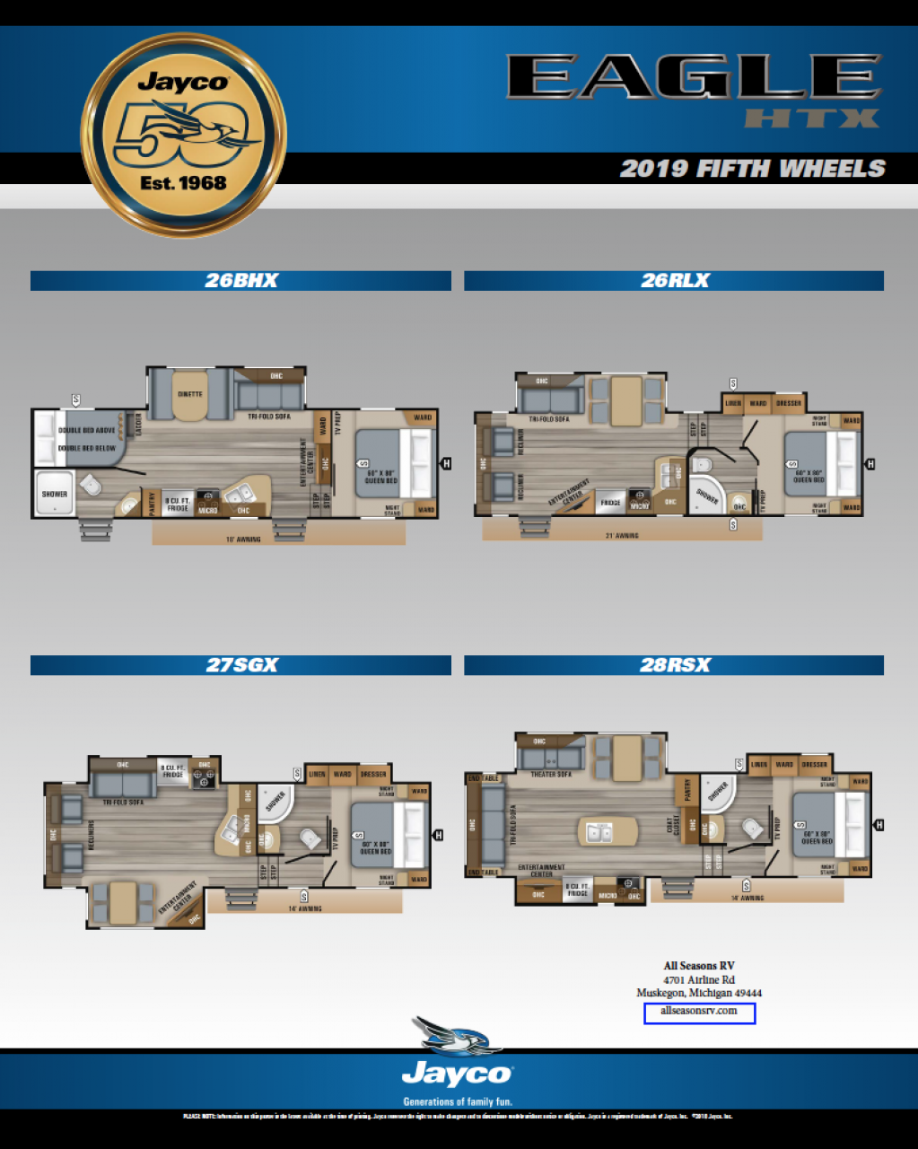 2019 Jayco Eagle HTX RV Brochure Cover