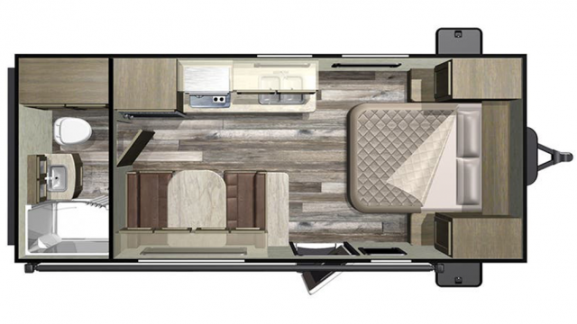 2019 Mossy Oak 182RB Floor Plan