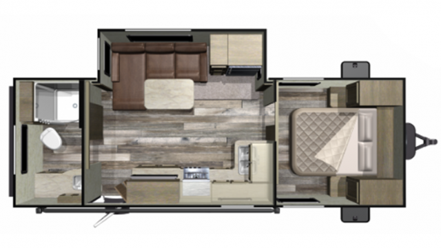 2019 Mossy Oak 21RBS Floor Plan