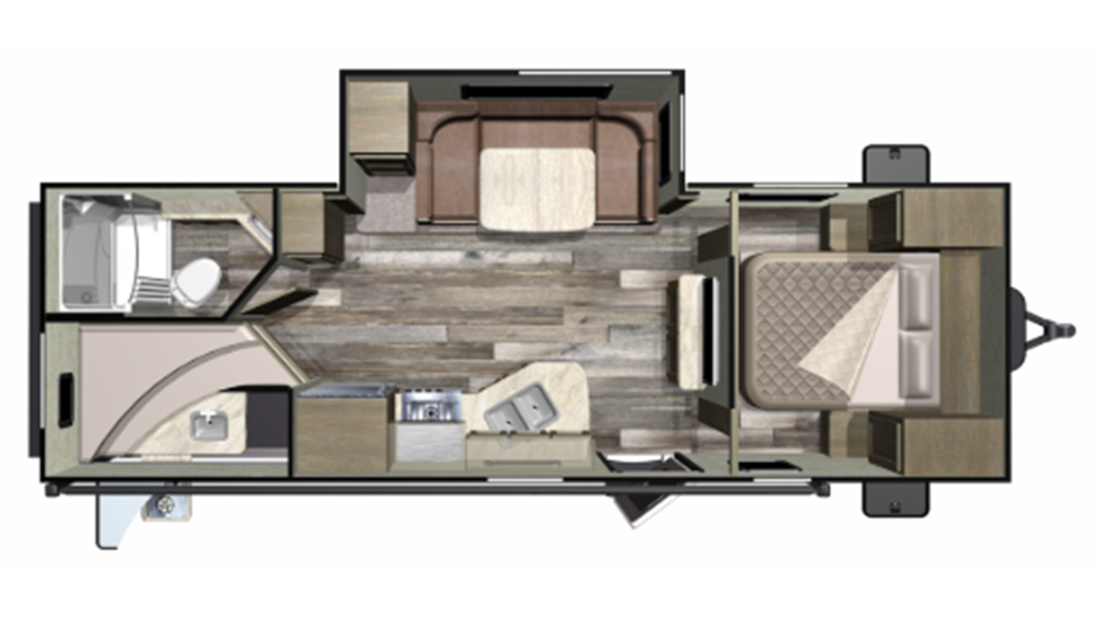 2019 Mossy Oak 24BHS Floor Plan Img