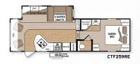 2010 Coleman 259RE Floor Plan