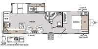 2014 Heritage Glen Lite 282RK Floor Plan