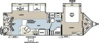 2013 Windjammer 3001W Floor Plan