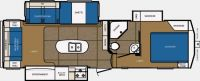 2015 Crusader Touring Edition 295RST Floor Plan