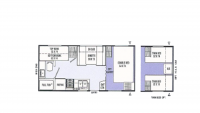 2001 Catalina 248TB Floor Plan