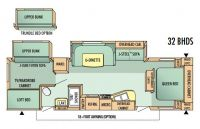 2008 Jay Flight 32BHDS Floor Plan