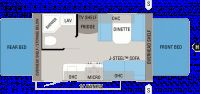 2011 Jay Feather X17Z Floor Plan